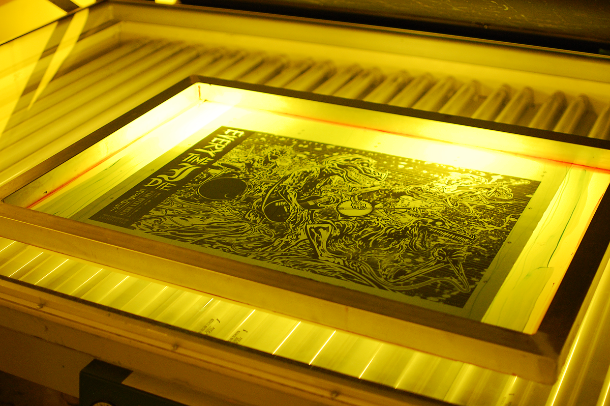 Silk Screen Screens : Silk screen printing